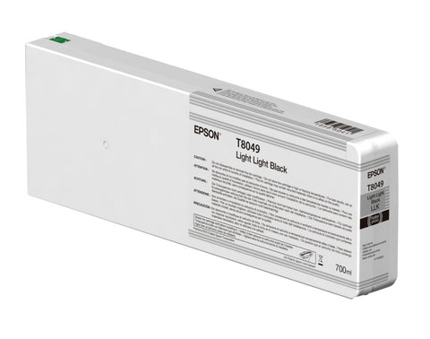 Epson T804900 P6000/P7000/P8000/P9000 Ultrachrome HD Ink 700ml Light Light Black, papers ink large format, Epson - Pictureline