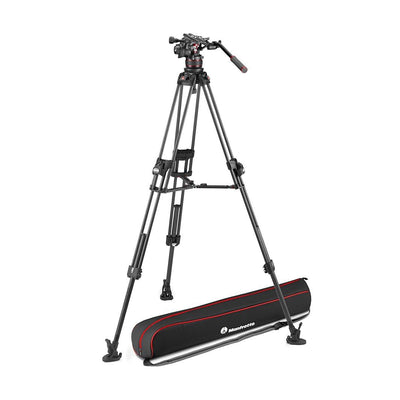 Manfrotto MVK612TWINFCUS Kit with Nitrotech 612 Fluid Head and 645 Fast Twin Leg Carbon Fiber Tripod