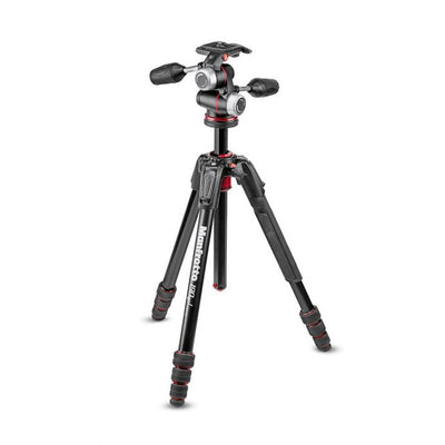 Manfrotto MK190XPRO3-3W Aluminum 3 section Tripod w/ 3 Way Head