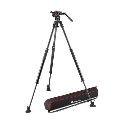 Manfrotto MVK608SNGFCUS Kit with Nitrotech 608 Fluid Head and 635 Fast Single Leg Carbon Fiber Tripod & Bag