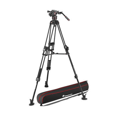 Manfrotto MVK608TWINFAUS Kit with Nitrotech 608 Fluid Head and 645 Fast Twin Leg Aluminum Tripod & Bag