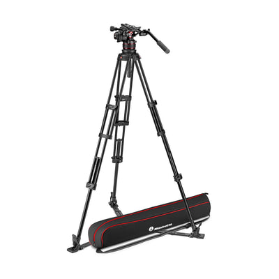 Manfrotto MVK612TWINFAUS Kit with Nitrotech 612 Fluid Head and 645 Fast Twin Leg Aluminum Tripod & Bag