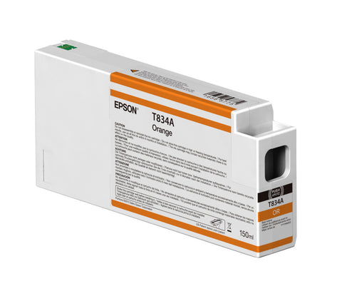Epson T834A00 P7000/P9000 Ultrachrome HDX Ink 150ml Orange, papers ink large format, Epson - Pictureline
