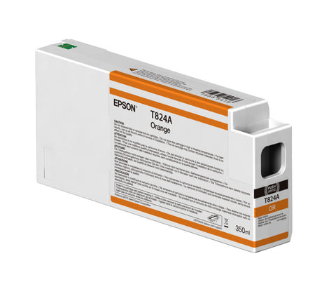 Epson T824A00 P7000/P9000 Ultrachrome HDX Ink 350ml Orange, papers ink large format, Epson - Pictureline