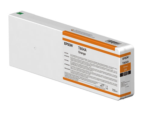 Epson T804A00 P7000/P9000 Ultrachrome HDX Ink 700ml Orange, papers ink large format, Epson - Pictureline