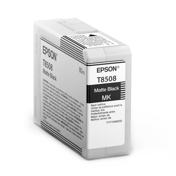 Epson T850800 P800 Ultrachrome HD Matte Black Ink, papers ink large format, Epson - Pictureline