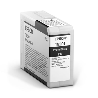 Epson T850100 P800 Ultrachrome HD Photo Black Ink, papers ink large format, Epson - Pictureline