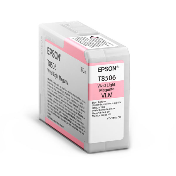 Epson T850600 P800 Ultrachrome HD Vivid Light Magenta Ink, papers ink large format, Epson - Pictureline