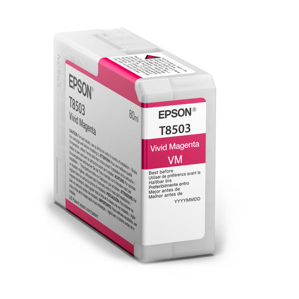 Epson T850300 P800 Ultrachrome HD Vivid Magenta Ink, papers ink large format, Epson - Pictureline