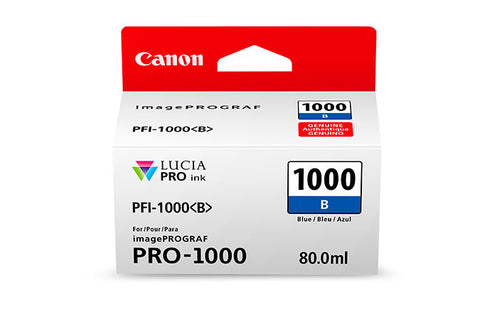 Canon PFI-1000 LUCIA PRO Blue Ink 80ml (PRO-1000), papers ink large format, Canon - Pictureline