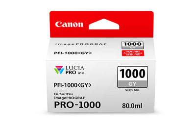 Canon PFI-1000 LUCIA PRO Gray Ink 80ml (PRO-1000), papers ink large format, Canon - Pictureline