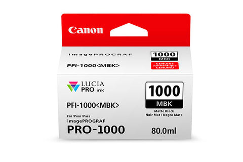 Canon PFI-1000 LUCIA PRO Matte Black Ink 80ml (PRO-1000), papers ink large format, Canon - Pictureline