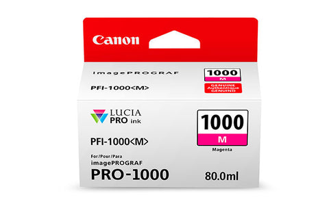 Canon PFI-1000 LUCIA PRO Magenta Ink 80ml (PRO-1000), papers ink large format, Canon - Pictureline