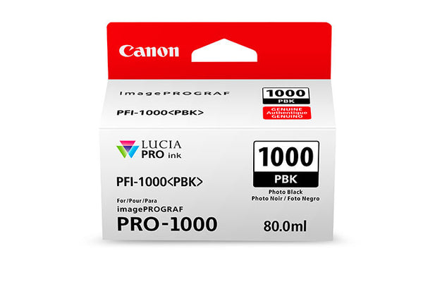 Canon PFI-1000 LUCIA PRO Photo Black Ink 80ml (PRO-1000), papers ink large format, Canon - Pictureline