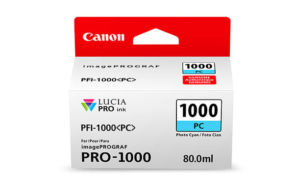 Canon PFI-1000 LUCIA PRO Photo Cyan Ink 80ml (PRO-1000), papers ink large format, Canon - Pictureline