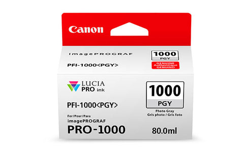 Canon PFI-1000 LUCIA PRO Photo Gray Ink 80ml (PRO-1000), papers ink large format, Canon - Pictureline