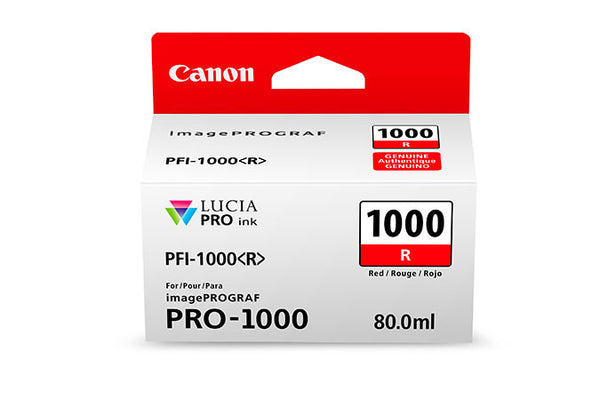 Canon PFI-1000 LUCIA PRO Red Ink 80ml (PRO-1000), papers ink large format, Canon - Pictureline