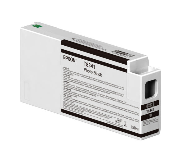 Epson T834100 P6000/P7000/P8000/P9000 Ultrachrome HD Ink 150ml Photo Black, papers ink large format, Epson - Pictureline