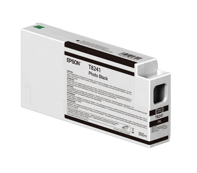 Epson T824100 P6000/P7000/P8000/P9000 Ultrachrome HD Ink 350ml Photo Black, papers ink large format, Epson - Pictureline