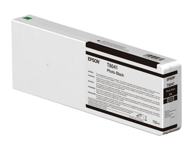 Epson T804100 P6000/P7000/P8000/P9000 Ultrachrome HD Ink 700ml Photo Black, papers ink large format, Epson - Pictureline