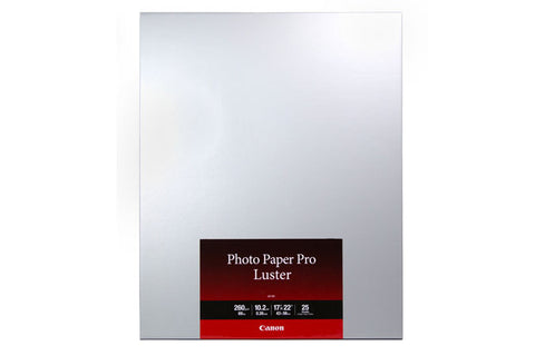 "Canon LU-101 Photo Paper Pro Luster 17x22"" (25), papers sheet paper, Canon - Pictureline"
