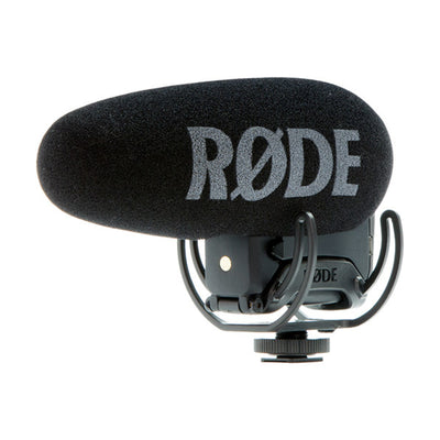 RODE VideoMic Pro+ Directional On-Camera Microphone with Rycote Lyre Suspension Mount and LB-1 Battery