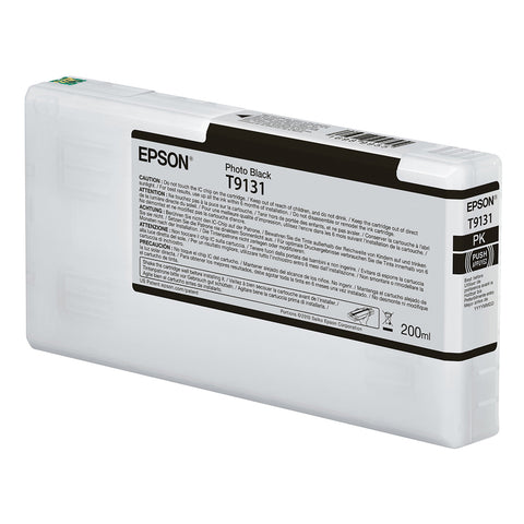 Epson T913100 P5000 Ultrachrome HD Ink 200ml Photo Black, papers printer ink, Epson - Pictureline