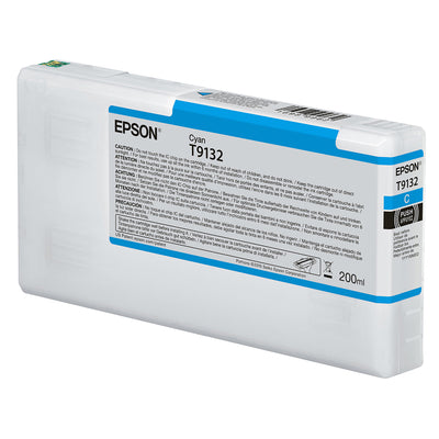 Epson T913200 P5000 Ultrachrome HD Ink 200ml Cyan, papers printer ink, Epson - Pictureline