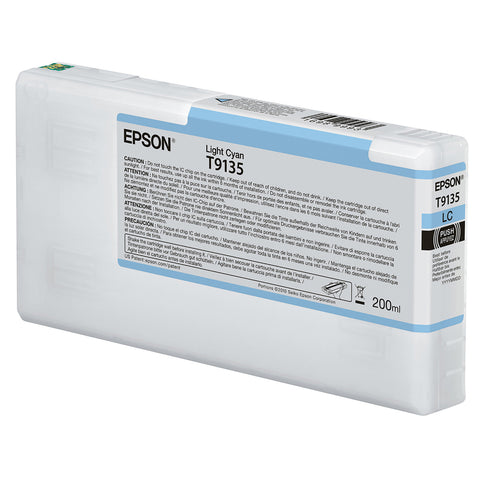 Epson T913500 P5000 Ultrachrome HD Ink 200ml Light Cyan, papers printer ink, Epson - Pictureline