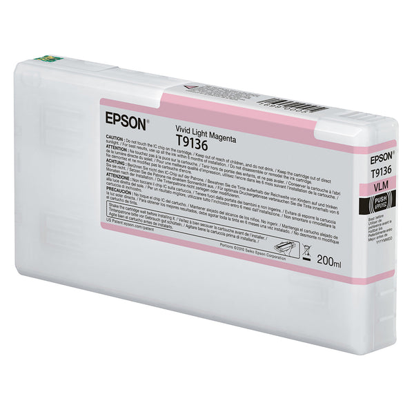 Epson T913600 P5000 Ultrachrome HD Ink 200ml Light Magenta, papers printer ink, Epson - Pictureline