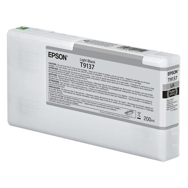 Epson T913700 P5000 Ultrachrome HD Ink 200ml Light Black, papers printer ink, Epson - Pictureline