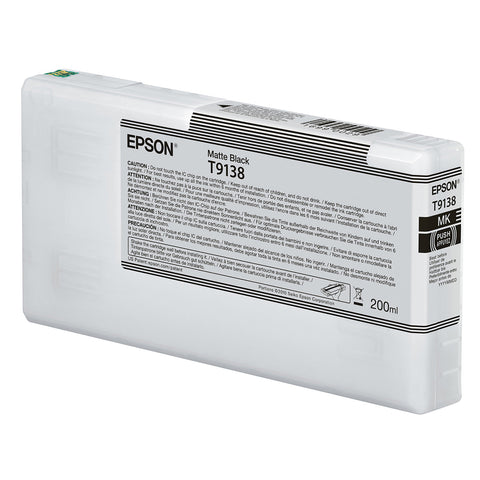Epson T913800 P5000 Ultrachrome HD Ink 200ml Matte Black, papers printer ink, Epson - Pictureline