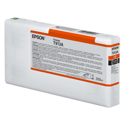 Epson T913A00 P5000 Ultrachrome HD Ink 200ml Orange, papers printer ink, Epson - Pictureline