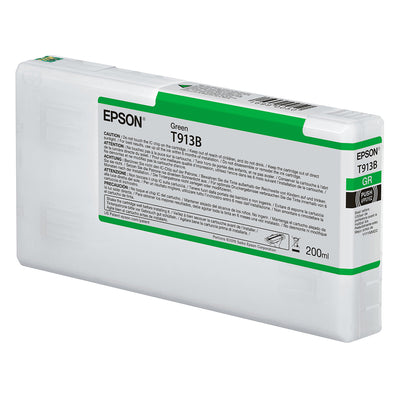 Epson T913B00 P5000 Ultrachrome HD Ink 200ml Green, papers printer ink, Epson - Pictureline