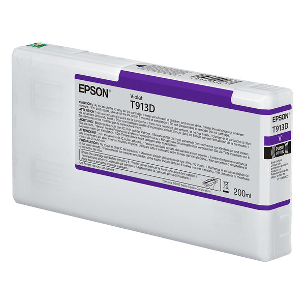 Epson T913D00 P5000 Ultrachrome HD Ink 200ml Violet, papers printer ink, Epson - Pictureline