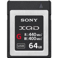 Sony 64GB G-Series 2933x XQD Card, camera memory cards, Sony - Pictureline
