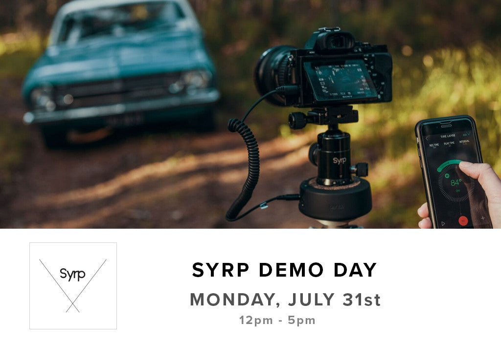 Syrp Demo Day (July 31st)