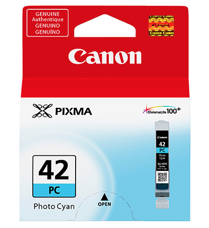Canon CLI-42 Photo Cyan Ink Cartridge, printers ink small format, Canon - Pictureline