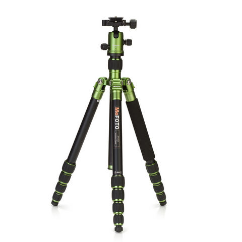 MeFOTO GlobeTrotter Carbon Fiber Travel Tripod Kit (Green), tripods travel & compact, MeFOTO - Pictureline  - 1