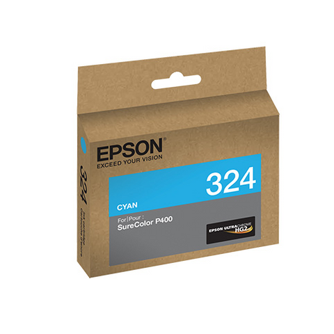 Epson T324220 P400 Cyan UltraChrome HG2 Ink Cartridge, printers ink small format, Epson - Pictureline