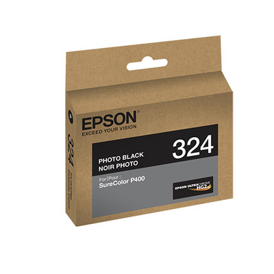 Epson T324120 P400 Photo Black UltraChrome HG2 Ink Cartridge, printers ink small format, Epson - Pictureline