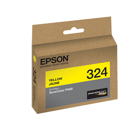 Epson T324420 P400 Yellow UltraChrome HG2 Ink Cartridge, printers ink small format, Epson - Pictureline