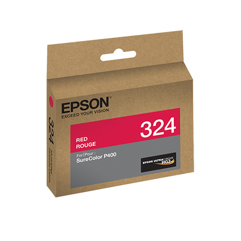 Epson T324720 P400 Red UltraChrome HG2 Ink Cartridge, printers ink small format, Epson - Pictureline