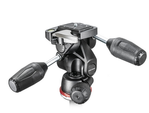 Manfrotto MH804 3 Way Head w/RC2 and retractable levers, tripods 3-way heads, Manfrotto - Pictureline  - 1