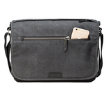 Tenba Cooper 13 Slim Gray Canvas/Black Leather Luxury Bag, bags shoulder bags, Tenba - Pictureline  - 5