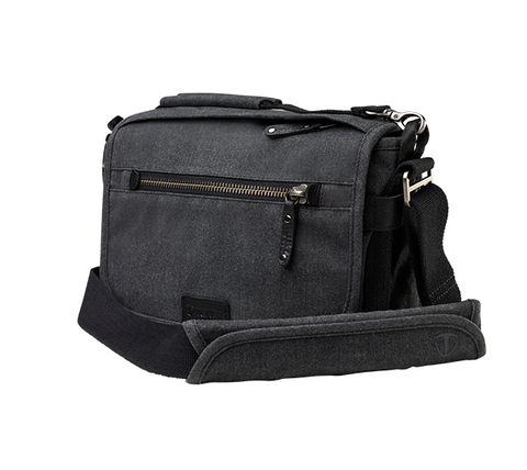Tenba Cooper 8 Gray Canvas/Black Leather Luxury Bag, bags shoulder bags, Tenba - Pictureline  - 1