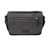 Tenba Cooper 8 Gray Canvas/Black Leather Luxury Bag, bags shoulder bags, Tenba - Pictureline  - 3