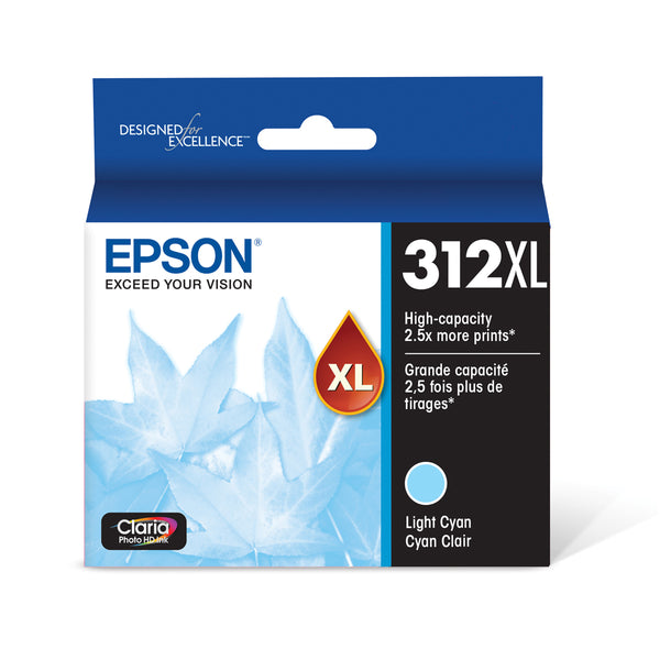 Epson T312XL520 Light Cyan Ink Cartridge for XP-8500 (312XL)