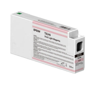Epson T824600 P6000/P7000/P8000/P9000 Ultrachrome HD Ink 350ml Vivid Light Magenta, papers ink large format, Epson - Pictureline