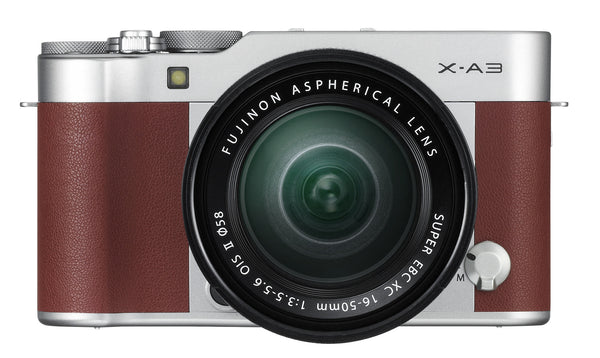 Fujifilm X-A3 Brown Digital Camera with XC 16-50mm f3.5-5.6 Lens, camera mirrorless cameras, Fujifilm - Pictureline  - 1